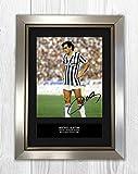 Star Prints UK Michel Platini 1MT–autographe Photo A4Imprimé Silver Frame