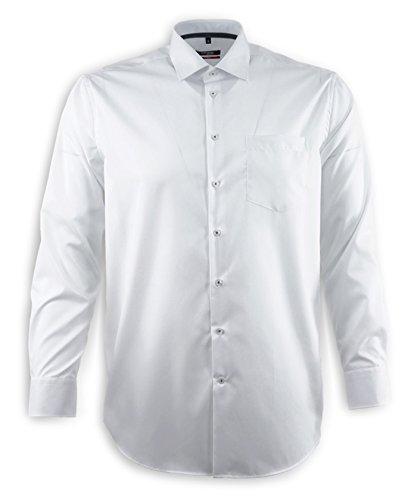 Seidensticker Herren Businesshemd Modern Langarm violett uni mit Kent-Kragen  Weiß 3700d23fc2
