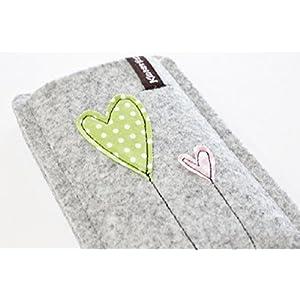 Handytasche -Handyhülle- iPhone SE -aus hochwertigem Wollfilz- Schutz vor Kratzern & Schmutz