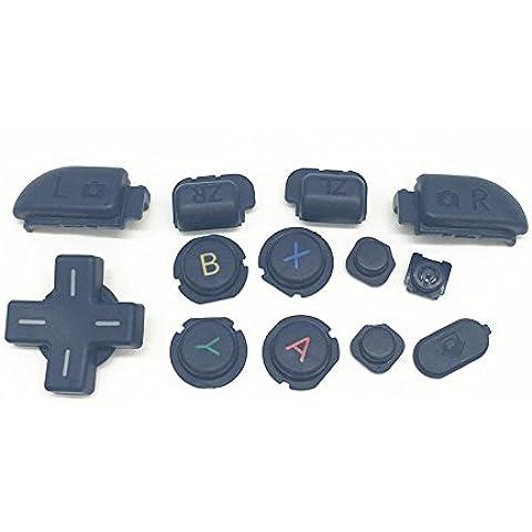 Haodasi inizio a casa di sostituzione selezionare il pulsante LR ABXY Home Start Select LR Button Key per Nintendo NEW 3DSLL 3DSXL Console Color 1 - Abxy Pulsanti