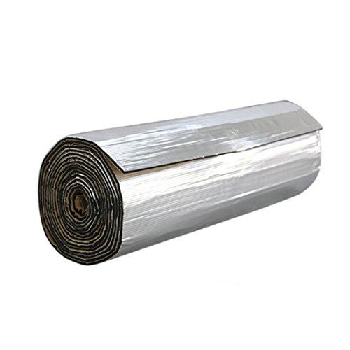 sourcingmap Coche Estera Laminada de Aluminio Intensivo Autoadhesiva PE Espuma 10mm de Espesor Aislante de Calor para Aislamiento Térmico y Acústico Colchoneta a Prueba de Sonido 40' x 40' Pulgadas