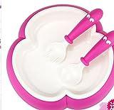 Xing Lin Kindergeschirr Set Kinder Geschirr Baby Gerichte Neugeborenes Baby Essen Schüssel Gabel Und Löffel Klage Gegen Fallende Und Antiskidding, Rosa
