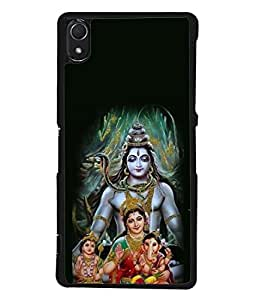 Snapdilla Designer Back Case Cover for Sony Xperia Z3 :: Sony Xperia Z3 Dual D6603 :: Sony Xperia Z3 D6633 (Design Statue Background Wallpaper Hindu Art Culture Ganapathi)