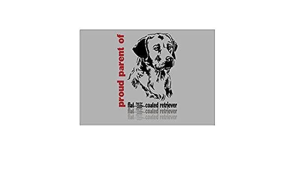 Teeburon Proud parent of a Flat Coated Retriever Pack of 4