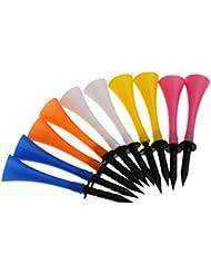 MagiDeal 10pcs Tees de Golf de Goma Altura 83mm Entrena para Golfista Accesorios de Deportes - Multicolor