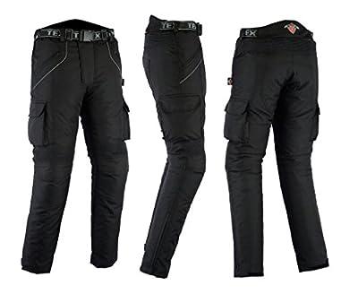 Texpeed - Motorradhose mit Protektoren - Wasserdicht - Schwarz - Alle Größen