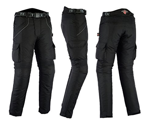 All Black Waterproof Armoured Motorcycle   Motorbike Trousers All Sizes  From Texpeed 62c96cd7f