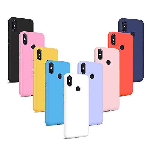 Coqin 9X Funda para Xiaomi Redmi S2, Carcasa Suave Protective Silicona Goma Suave Delgado Gel TPU Antigolpes Anti-rasguño Resistente Caso (Rojo + Rosa + Púrpura + Amarillo + Verde + Negro + Azul)