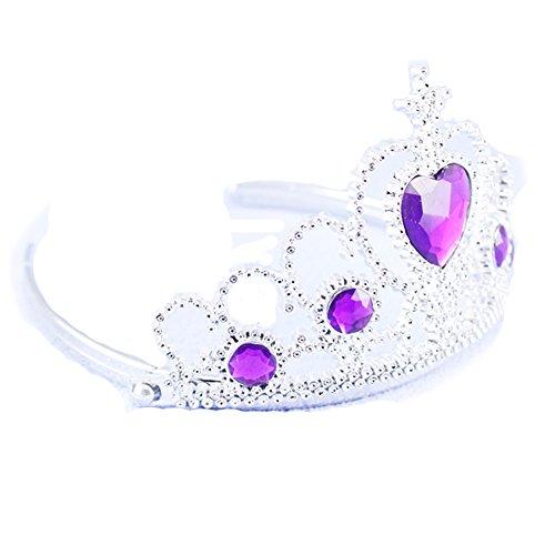 Das beste Tiara für Mädchen Abschlussbälle Festzüge Princess Party Krone (Schleier Hut Prinzessin Damen)