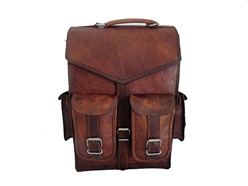 laptop bags leather bags Leather Backpack Messenger Bags Vintage Men's Leather Backpack Bags Shoulder Briefcase Rucksack Brown Laptop Bag