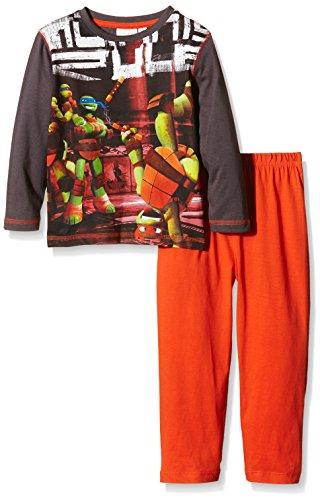 Nickelodeon Jungen Zweiteiliger Schlafanzug Gr. 122, Orange - Coloquinte