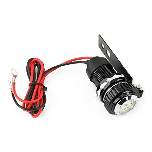 Preisvergleich Produktbild HBX6 12 V ~ 24 V Aluminiumlegierung USB Motorrad Ladegerät Wasserdichte Auto Ladegerät Mit Uhr Für Handy GPS Navigator Tablet