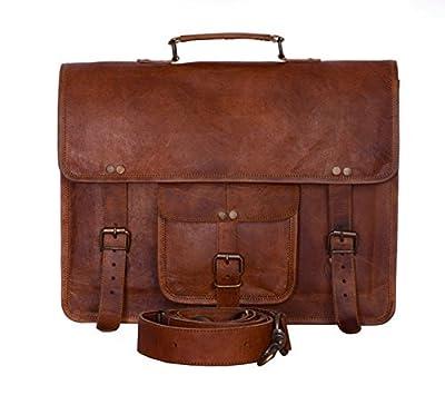 Komal's Passion Leather Sacoche vintage de 38,1cm pour ordinateur portable, unisexe