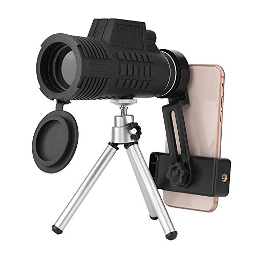Zunate telescopio monoculare 60x50 - portable hd cannocchiale ottico prisma telescope per bird watching impermeabile anti nebbia treppiede adattatore per iphone/samsung/ andriod/telefono cellulare