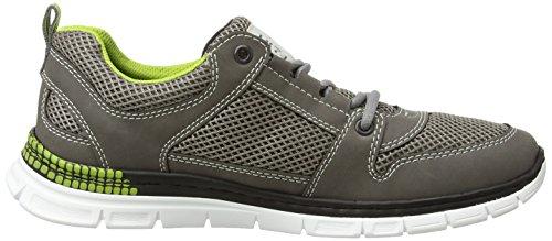 Rieker B4813 Sneakers-men, Baskets Basses homme Gris - Grau (polvere/dust / 45)