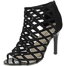Toamen Zapatos De TacóN Alto Peep Toe De Moda Para Mujer Sandalias Romanas De Gladiador Rivet