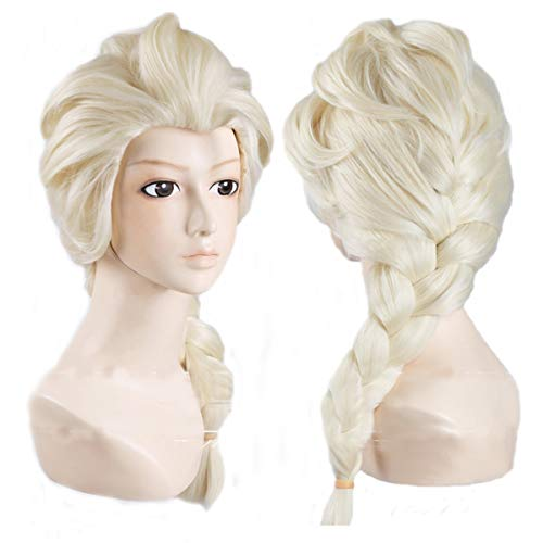 Generic Anime Cosplay Costume Wig for Disney Movies Frozen Snow Queen Elsa (Elsa Kostüm Für Erwachsene)