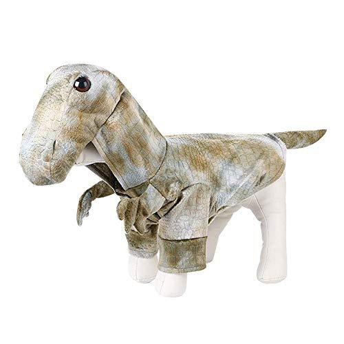 KDSANSO Dinosaurier Katzenkostüm,Lustige Haustier-Hundekatze kleidet Oben Kleidung-Weihnachtshalloween-Dinosaurier-Kostüme an, Grau S (Kostüm Dinosaurier Haustier)