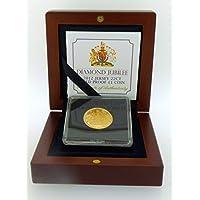 Jersey Menta 2012Giubileo di Diamante in Oro 22carati prova £1Coin Boxed - Oro Prova