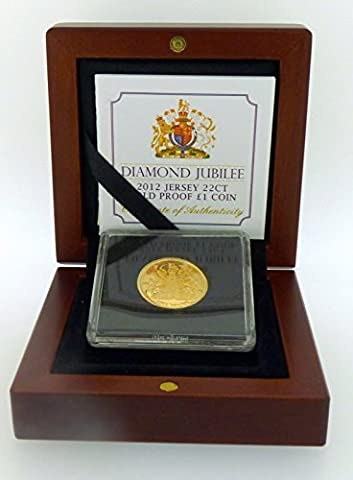 Jersey Menthe 2012Diamond Jubilee 22CT, or Proof £1pièce emballage