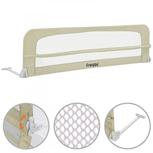 Bettgitter 150 cm Bettschutzgitter Kinderbettgitter Babybettgitter Gitter Kinderbett Fallschutz Bett Sand