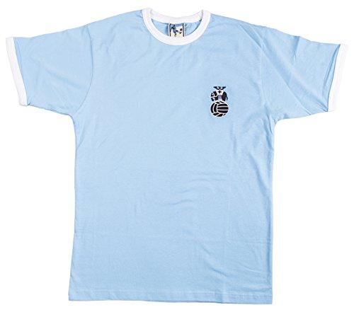 Old School Football Coventry City 1970er Fußball-T-Shirt Größe L Logo gestickt