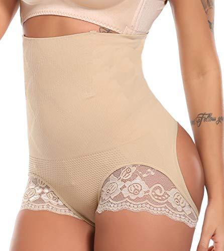 MISS MOLY Damen Figurformender Miederslip Bauch Weg Effekt Unterhose Butt Lifter Push up Enhancer Shaper Höschen Hohe Taille Miederhose Bauch Kontrolle