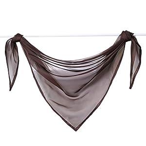 Querbehang Deko Gardinen aus transparentem Voile Triangle Schals L*B 200 * 100cm Aqua