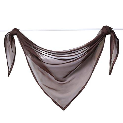 Querbehang Deko Gardinen aus transparentem Voile Triangle Schals L*B 200 * 100cm Braun