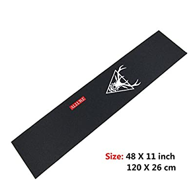 ALLURE Griptape für Longboard Skateboard, 27,9 x 121,9 cm, schwarzes Sandpapier