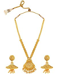 VORIL FASHION Gold Plated Alloy Necklace Set For Women