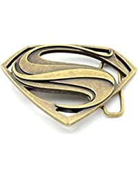 45bf3c0613f3 Choppershop Superman Couleur Bronze en métal Boucle de Ceinture