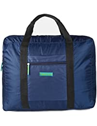 Dark Blue : Starsource Large Waterproof Portable Fold Travel Bag Carry On Luggage Bag Duffel Storage Bag For Airplane...
