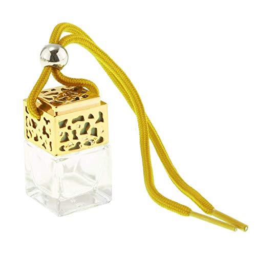 Morning May - Deodorante per Auto Vuoto, Ricaricabile, in Vetro, Colore: Oro
