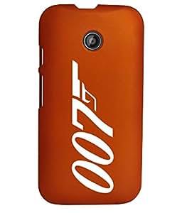 KolorEdge Back Cover For Motorola Moto E (2nd Gen) - Orange (1262-Ke15157MotoE2Orange3D)