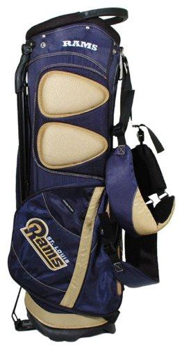 Team Golf NFL Fairway Golftasche, leicht, 14-Wege-Oberteil, Feder-Action-Ständer, isolierte Kühltasche, gepolsterter Gurt, Regenschirmhalter und abnehmbare Regenhaube, Navy, Einheitsgröße (Blau Und Orange Golf-bag)