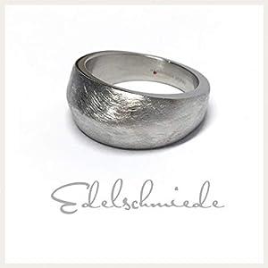 breiter Ring in Edelstahl – eismattiert #54