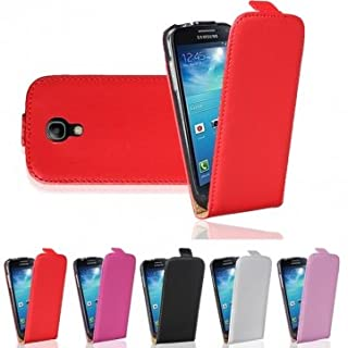 Flip-Open Leather Case For Samsung Galaxy S4 Mini i9190 --- Color:Pink-red