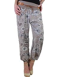 BD Pumphose Baggy Sommerhose Strandhose im Harem Stil mit Paisley-Muster Stretch onesize 34-42