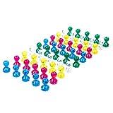 50 transparente bunte Neodym Magnet-Pins/Push-Pins für Whiteboard, Kühlschrank
