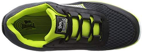 Lonsdale  Southwick M,  Herren Sneaker Low-Tops Grey (Charcoal/Black/Volt)