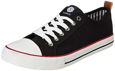 Amazon Brand - Symbol Men's Black Sneakers-10 UK/India (44 EU)(AZ-SH-03D)