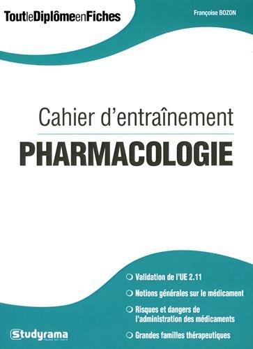 Cahier d'Entrainement Pharmacologie