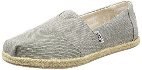 TOMS Alpargata Classic, Mujer, Gris Drizzle Grey Washed Canvas 020, 37 EU