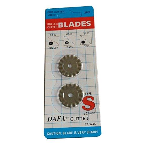 honesew Rotary Cutter und Klinge DAFA Rollenschneider Größe 18mm 28mm, 45mm und 60mm für Wählen WB-05