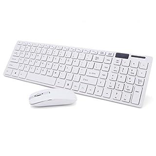 wanhemei Aursen® Wireless Kabellose Tastatur English Keyboard mit Wireless Maus für Apple MacBook, Notebook, Laptop, Tablets, Windows 7, Windows 8, Samsung Galaxy Tab Serie, Galaxy Note Serie