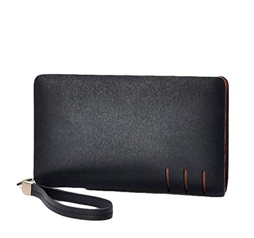 Preisvergleich Produktbild Herren Handtaschen Multifunktions Business Handtasche Halter Griff Brieftaschen Card Pack Einfache Mode, Black-OneSize