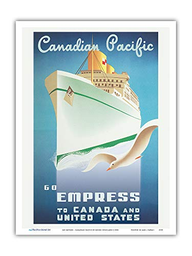 Kunstdruck Empress Kanada United States Canadian Pacific Travel Couillard c.1950 9 x 12 in Mehrfarbig -