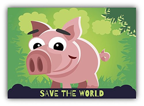 save-the-world-pig-cartoon-animal-greenpeace-slogan-de-haute-qualite-pare-chocs-automobiles-autocoll