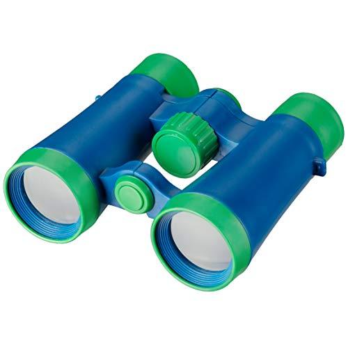 Bresser 8880433 - Prismáticos Junior para niños de 4 x 30, color verde y azul